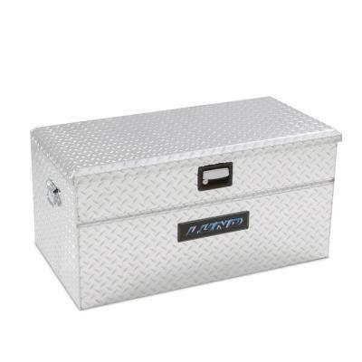 36 in Diamond Plate Aluminum Flush Mount Full Size Chest Truck Tool Box with mounting hardware and keys included, Silver