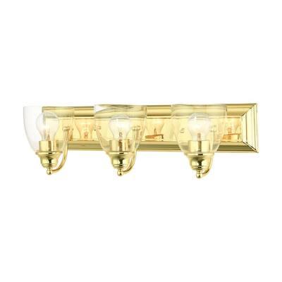 Birmingham 3 Light Polished Brass Vanity Sconce