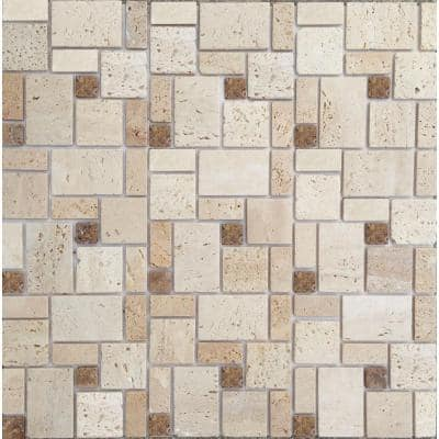 Peel and Stick Natural Stone 12 in. x 12 in. Wall Tile