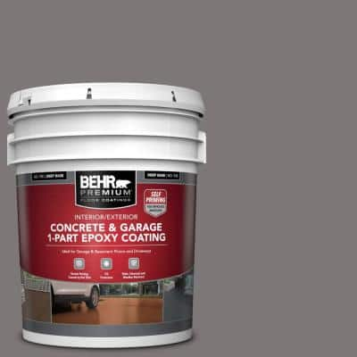 5 gal. #PFC-74 Tarnished Silver Self-Priming 1-Part Epoxy Satin Interior/Exterior Concrete and Garage Floor Paint