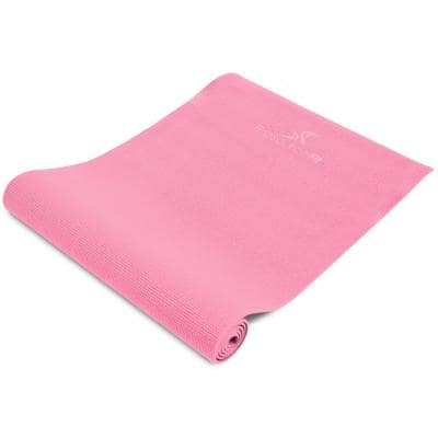 All Purpose Pink 72 in. L x 24 in. W x 0.25 in. T Original Exercise Yoga Mat with Carrying Straps, Non Slip (12 sq. ft.)