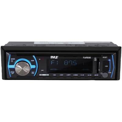 Single-DIN In-Dash Digital Marine Stereo Receiver with Bluetooth in Black