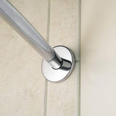 60 in. Curved Shower Rod in Chrome