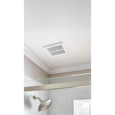 80 CFM Ceiling Mount Roomside Installation Humidity Sensing Bathroom Exhaust Fan, ENERGY STAR