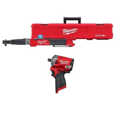 M12 FUEL One-Key 12-Volt Lithium-Ion Brushless Cordless 1/2 in. Digital Torque Wrench and 1/2 in. Impact Wrench (2-Tool)