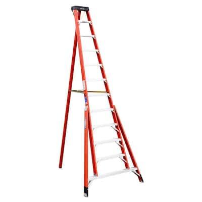 12 ft. Fiberglass Tripod Step Ladder (16 ft. Reach Height), 300 lbs. Load Capacity Type IA Duty Rating