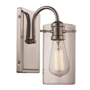 Townsend 1-Light Polished Chrome Wall Sconce with Clear Glass Shade