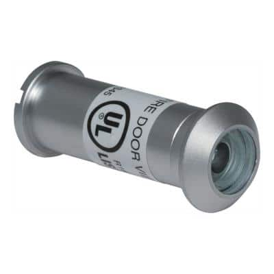 160-Degree Satin Chrome Door Viewer with Glass Lenses, UL Fire-proof