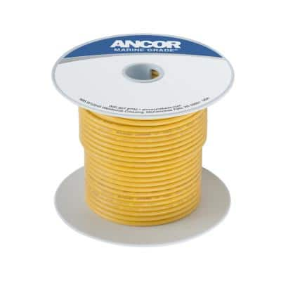 Marine Grade Tinned Copper Battery Cable 8 AWG, Yellow, 100 ft.