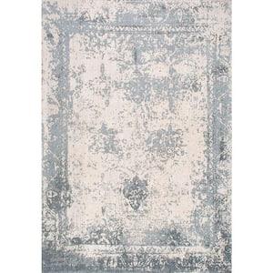 Shawanna Vintage Slate Blue 2 ft. x 3 ft.  Area Rug