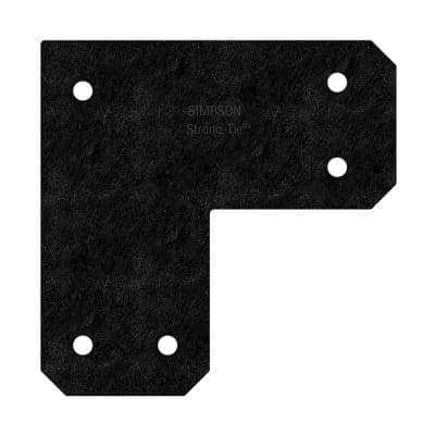 Outdoor Accents Avant Collection ZMAX, Black Powder-Coated L Strap for 6x6 Lumber