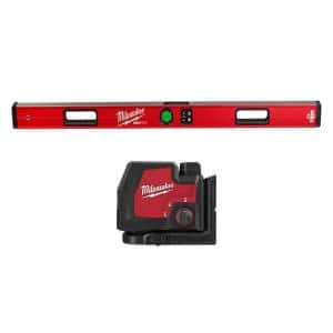 48 in. REDSTICK Digital Box Level with Green 100 ft. Cross Line and Plumb Points Laser
