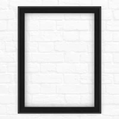 23 in. x 33 in. (S2) Rectangular Mirror Frame in Matte Black