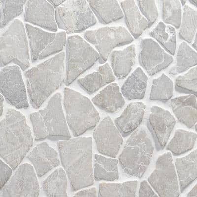 Countryside Tumbled 11.81 in. x 11.81 in. Gray Floor and Wall Mosaic (0.97 sq. ft. / sheet)