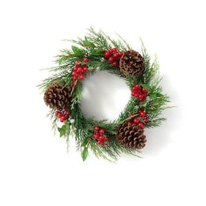 16 in. Artificial Juniper Berry Wreath