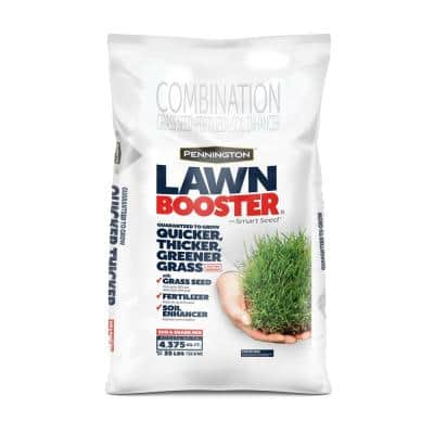 35 lbs. Sun and Shade Lawn Booster with Smart Seed, Fertilizer and Soil Enhancers