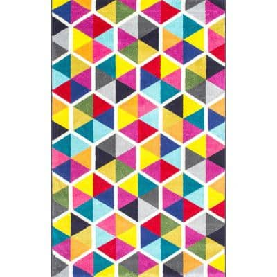 Maris Triangles Multi 7 ft. x 9 ft.  Area Rug