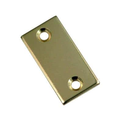 1-1/8 in. x 2-1/4 in. Polished Brass Latch Bolt Filler Plate