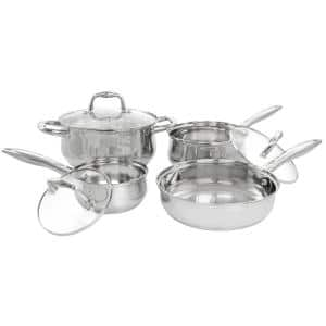Bransonville 7-Piece Stainless Steel Cookware Set in Chrome