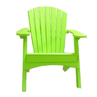 Lime Green Plastic Adirondack Chair