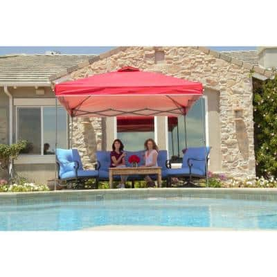 10 ft. x 10 ft. Red Instant Canopy Pop Up Tent
