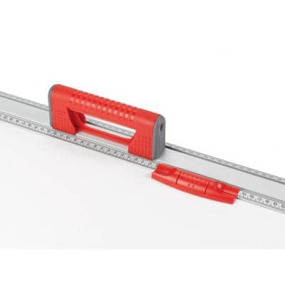 36 in. Set and Match Ruler with Sliding Vials Knife Guide Handle and with English Graduations 1/8
