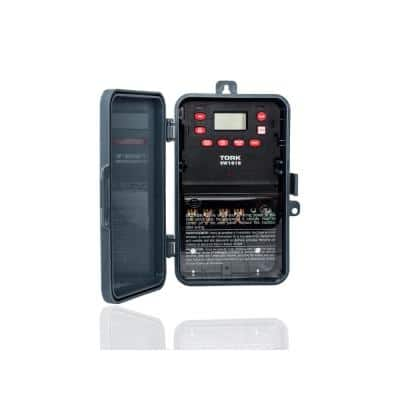 30 Amp 120-277-Volt SPST 7-Day Indoor/Outdoor Digital Time Switch, Gray