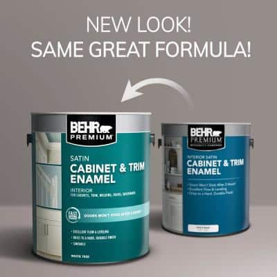 1 gal. #BWC-12 Vibrant White Satin Enamel Interior Cabinet and Trim Paint