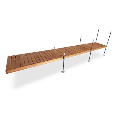24 ft. Straight Cedar Complete Dock Package