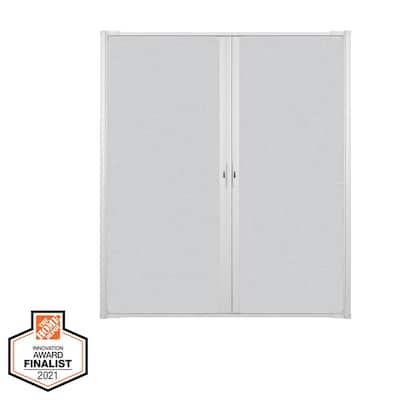 72 in. x 80 in. LuminAire White Retractable Screen Door