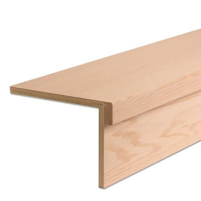54 in. Modern RetroFit Return Engineered Wood 2.1 in. x 54 in. Red Oak Tread Kit for Stair Remodel