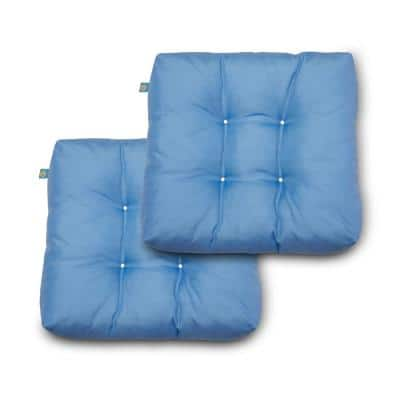 19 in. x 19 in. x 5 in. Periwinkle Blue Square Indoor/Outdoor Seat Cushions (2-Pack)