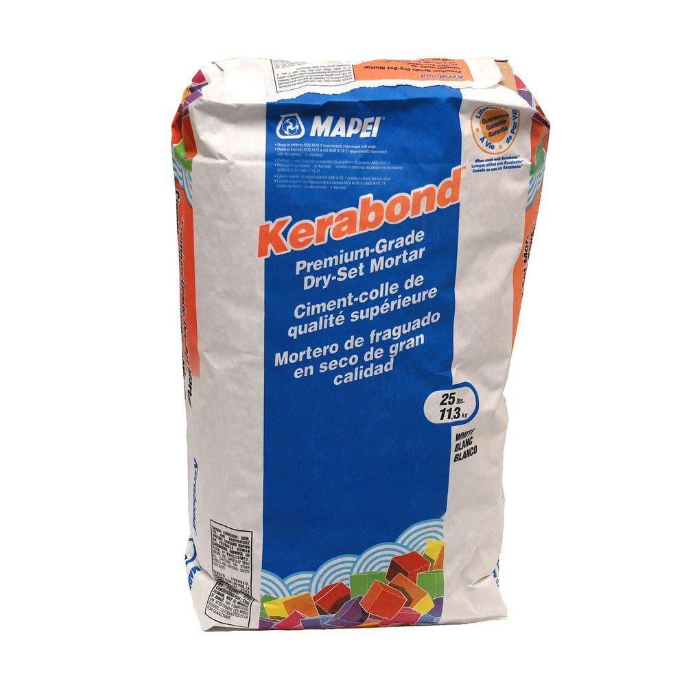 mapei kerabond 25 lb dry set mortar 0010025 the home depot