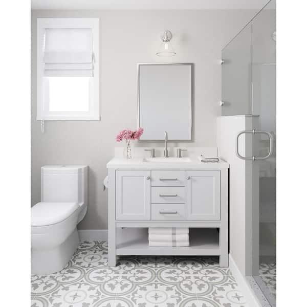 Ariel Bayhill 42 In W Bath Vanity, Home Depot Bathroom Colors