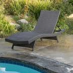 Salem Gray 1-Piece Wicker Outdoor Chaise Lounge
