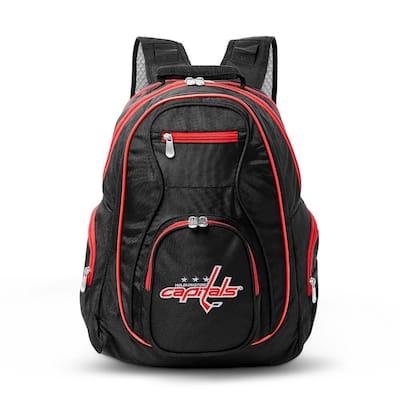 NHL Washington Capitals 19 in. Black Trim Color Laptop Backpack