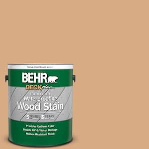 1 gal. #SC-127 Beach Beige Solid Color Waterproofing Exterior Wood Stain