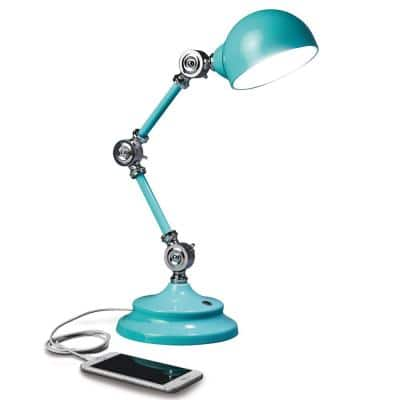 12.5 in. Turquoise Wellness Series Revive LED Desk Lamp
