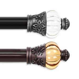 Royal 115 in. - 165 in. Long 1.5 in. Dia Single Curtain Rod in Black