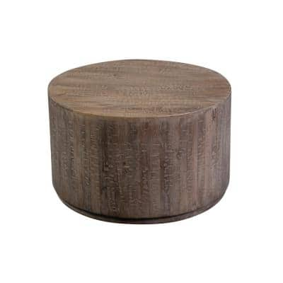 30 in. Brown Medium Round Wood Coffee Table
