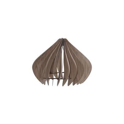 Glimpse 14 in. Walnut Wood Ceiling Pendant Lamp