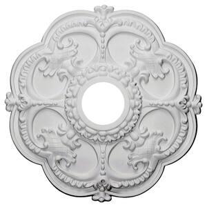 18'' x 3-1/2'' I.D. x 1-1/2'' Rotherham Urethane Ceiling Medallion (Fits Canopies upto 3-1/2''), Primed White