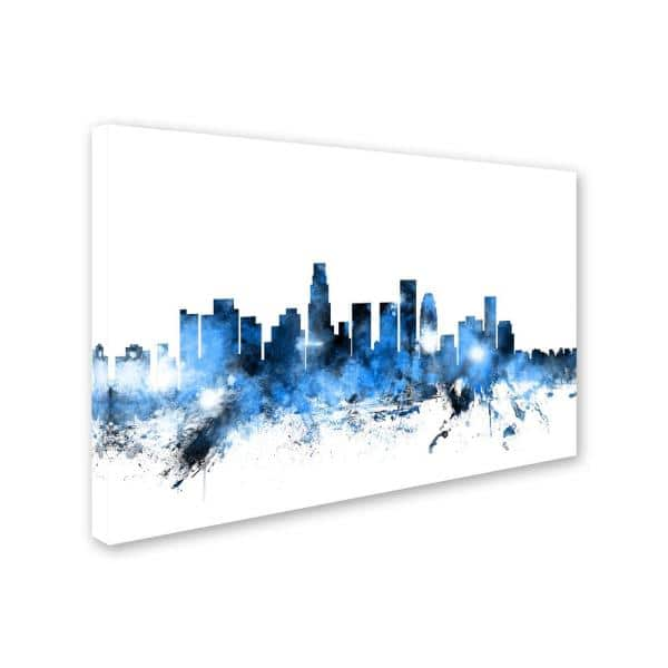 Trademark Fine Art 30 In X 47 In Los Angeles California Skyline Ii By Michael Tompsett Mt0629 C3047gg The Home Depot