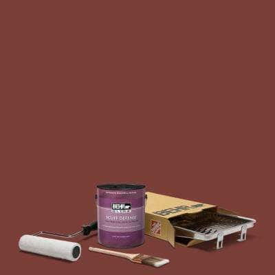1 gal. #PPU2-02 Red Pepper Extra Durable Eggshell Enamel Interior Paint and 5-Piece Wooster Set All-in-One Project Kit