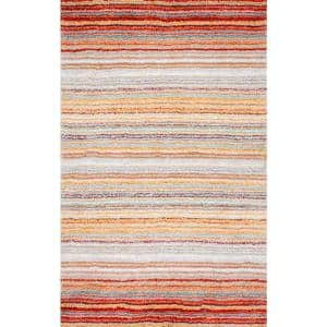 Drey Ombre Shag Red Multi 8 ft. x 10 ft. Area Rug