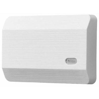 2-Note Modern Textured Design Wired Doorbell Chime, White