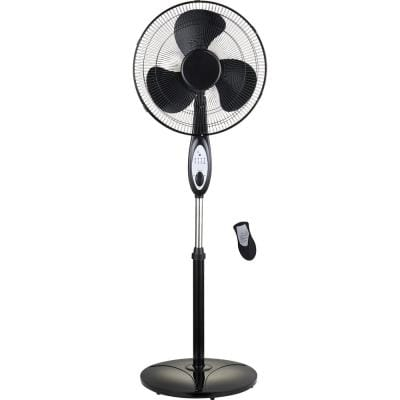 Optimus 16 In Oscillating Pedestal Fan With Remote Control F1672bk The Home Depot