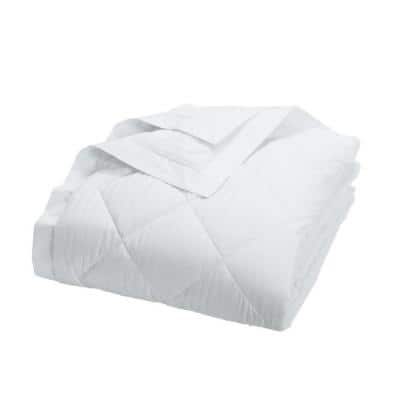 Legends Damask Stripe Down White Twin Blanket