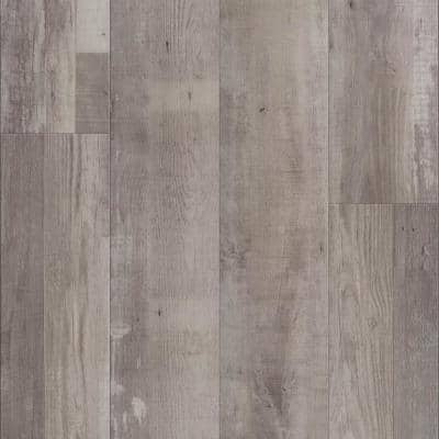 Vinyl Pro Classic Gray Ash 7.12 in. W x 48 in. L Waterproof Luxury Vinyl Plank Flooring (23.77 sq. ft)