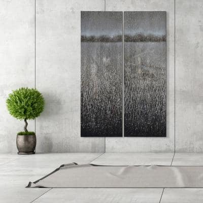 """60 in. x 20 in. """"Listlessness"""" - Set of 2 Textured Metallic Hand Painted by Martin Edwards Wall Art"""